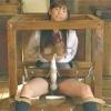 被虐に魅入られ陵辱を求める女子高生を緊縛し木枠に拘束で自由を奪い固定電マの快楽で理性崩壊で複数の男たちの肉棒を貪る